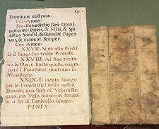 Antique Large Manuscript Page And Old Document From 1642