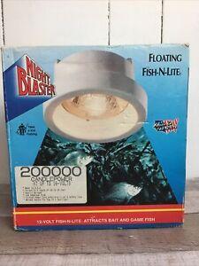 Night Blaster Floating Fish-N-Lite 12V Fishing Light Attracts Bait & Game Fish