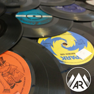 "100 x Upcycling 7"" Inch 45RPM Vinyl Records - Job Lot Crafting"