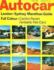 Autocar Magazine November 21 1968 CanAm Ferrari VG No ML 040717nonjhe