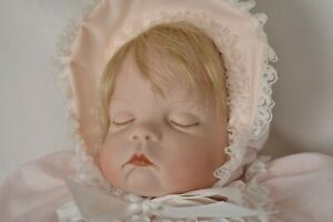 "18""  Vintage Sugar Britches Baby 1986 Boots Tyner Design Blonde Porcelain Doll"