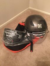 Sparx Motorcycle Streetbike Helmet FC07 Gunmetal XL W/CLEAR AND SMOKE visors