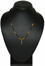 One Gram 24kt Gold Plated Neck Mangalsutra 18 Inch For Women Daily Wear 714