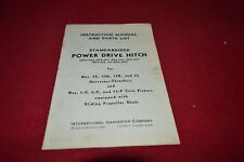 International Harvester Standardized Power Drive Hitch Operator's Manual BWPA