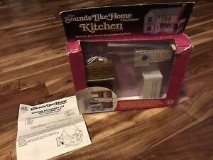 Vintage 1982 Sounds Like Home Dollhouse by Craft Master Kitchen Accessory Set