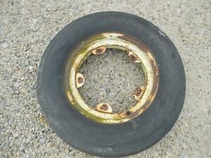 """Oliver 77 88 tractor rim & good 6.00x 16"""" 3Rib Armstrong tire"""