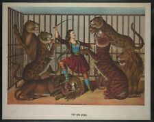 "8"" x 10""  1874 Photo The lion queen Print showing a woman lion-tamer."