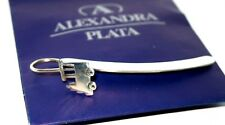 Marcapaginas de Plata Punto para Libros Nuevo Autentico Alexandra Plata Silver
