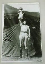 """HAND SIGNED WIZARD OF OZ TINY DOLL MUNCHKIN 9 3/4"""" X 6 3/4"""" CIRCUS PHOTO"""