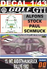 DECAL 1/43 VOLKSWAGEN GOLF GTi 16S OETTINGER A.STOCK HUNSRUCK R. 1982 DnF (07)