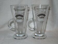 BAILEYS LATTE GLASSES X 2 FRAPPE / ICED COFFEE / HOT CHOCOLATE vgc
