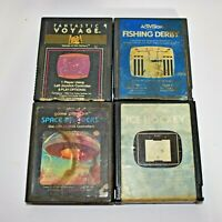 Atari 2600 Lot of 4 Video Games Fantastic Voyage Space Invaders Fishing Untested