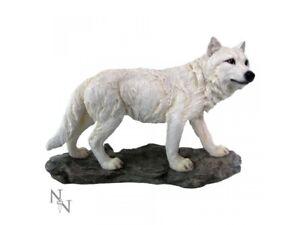 MOUNTAIN WATCHER 21cm Wolf Ornament Figurine Snow Wolves Nemesis Now - FREE P+P