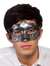 Adult Opera Mens Gladiator Masquerade Silver Fancy Dress Face Eyemask Rome Mask
