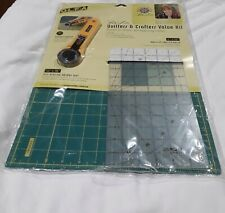 OLFA (M' LISS) QUILTERS & CRAFTERS VALUE KIT  ROTARY CUTTER, HEALING MAT, RULER