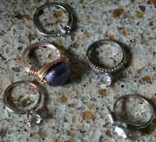 Stones Rings Uncas Unknown Mixed Metals Women's Vintage Rings Lot - Fashion