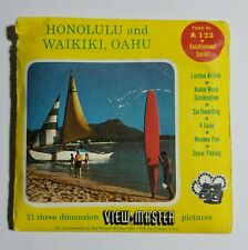 View-Master HONOLULU and WAIKIKI, OAHU Vacationland Series A123 - 3 Reel Set