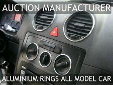 VW Caddy Chrom Ringe für den Lüftungsschacht + Gebläseschalterringe +Lichts 8Stk