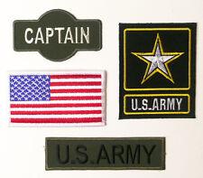 Nous capitaine de l'armée militaire patch ensemble-brodé thermocollants, Costume-Nouveau
