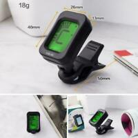 LCD CLIP ON CHROMATIC ACOUSTIC ELECTRIC GUITAR BASS BANJO TUNER UKULELE