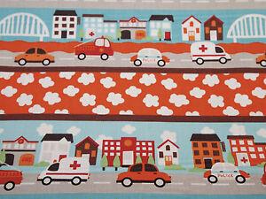 Children's Vehicles Fabric 100% Cotton Nursery/Bunting/Cushions 58ins