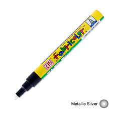 Zig Fabricolor Fabric Marker - 2mm - Metallic Silver (Pack of 12)