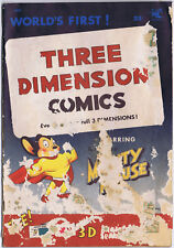 THREE DIMENSION COMICS 1 St John 1953 MIGHTY MOUSE 1st 3-D Comic Book