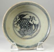 China Chinese Celadon Pottery Plate w/ Fish Decoration Ming Dynasty ca. 16-17th