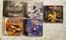 5 Sega Dreamcast games 18 wheeler Dave Mirra 4 wheel thunder iron aces rouge