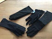 lot of Vintage black gloves (4) Never Used