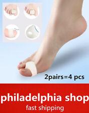 2 pairs Gel bunion toe separator spreader eases foot hallux valgus protector 362