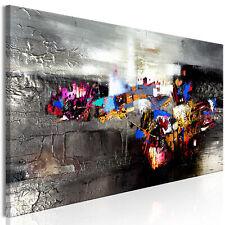 ABSTRAKT GRAU BUNT TEXTUR Wandbilder xxl Bilder Vlies Leinwand a-A-0466-b-a