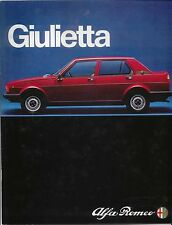Alfa Romeo Giulietta 1.6 1.8 1980-82 Original UK Sales Brochure Pub No 805 1091