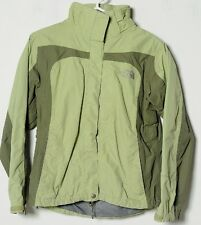 The North Face Hyvent Women's Green Hooded Skiing Snowboard Shell Jacket Small S