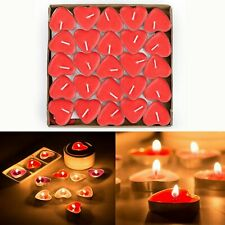 Love heart shape red-scented tea light candle decoration