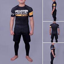 Leg Locker Rashguard No-Gi MMA BJJ Black Medium