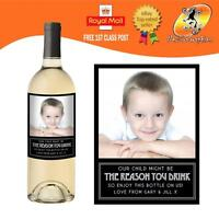 PERSONALISED PHOTO WINE BOTTLE LABEL TEACHER REASON YOU DRINK ANY OCCASION GIFT