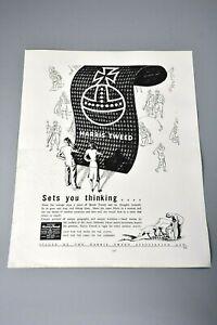 Vintage Advert/Clipping/Print: Harris Tweed Fabric Fashion Interest