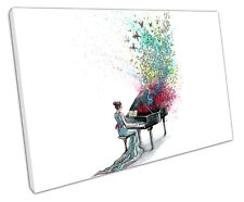 MUSICAL BUTTERFLIES CANVAS WALL ART PICTURE LARGE 75 X 50 CM