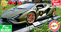 MAISTO 1:18 LAMBORGHINI SIAN FKP 37 METALIC GREEN Diecast Model LIMITED EDITION