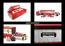 1:43 Brumm Fiat 170 Ferrari 126CK Monaco 1981 Villeneuve Pironi Transporter Set