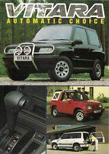 Suzuki Vitara Automatic 1993-94 UK Market Leaflet Sales Brochure JX JLX SE