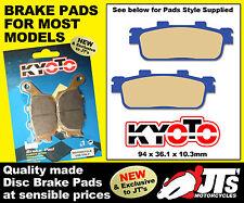 REAR SET OF DISC PADS BRAKE PADS FOR SYM City Com 125 (08-10)