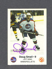 Doug Smail signed Winnipeg Jets team issued card