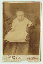 ca 1889 Cabinet Photo POST MORTEM Child Baby - Auburn NY - Cayuga County