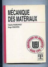 Massonnet Cescotto:Mécanique des Materiaux