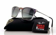 NEW Genuine RAY-BAN CHRIS Violet Grey Gunmetal Square Sunglasses RB 4187 622311
