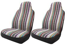 Baja Inca Front Seat Covers Pair High Back Bucket Tribal Stripes