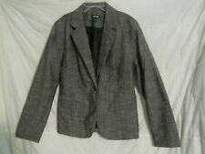 Apt 9 Blazer Jacket 14 Gray Button Front Pockets Lined Cotton Blend Career