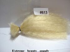 Supreme Materials Synthetic fly fishing tying flies jig tie BLOND hair